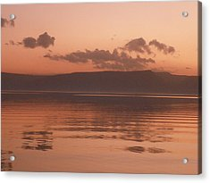 Kinneret Ripples At Dusk Acrylic Print by Noreen HaCohen