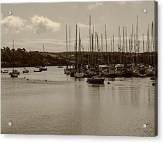 Acrylic Print featuring the photograph Kinsale Harbor At Dusk by Winifred Butler