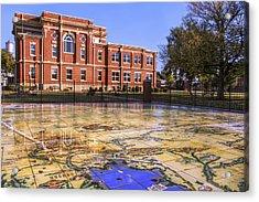 Kiowa County Courthouse With Mural - Hobart - Oklahoma Acrylic Print
