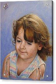 Acrylic Print featuring the painting Kira 2 by Glenn Beasley