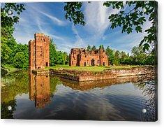 Kirby Muxloe Castle Acrylic Print by David Ross