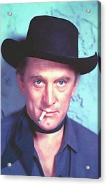 Kirk Douglas In Man Without A Star Acrylic Print by Art Cinema Gallery