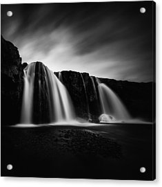 Acrylic Print featuring the photograph Kirkjufellsfoss by Frodi Brinks