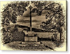 Acrylic Print featuring the photograph Kirknewton War Memorial Northumberland by Les Bell