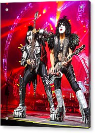 Kiss - 40th Anniversary Tour Live - Simmons And Stanley Acrylic Print by Epic Rights