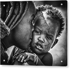 Kiss From Beautiful Himba Mom Acrylic Print