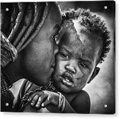 Kiss From Beautiful Himba Mom Acrylic Print