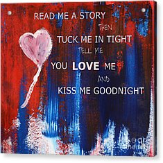 Kiss Me Goodnight Acrylic Print