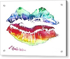 Kiss Of Color Acrylic Print