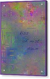 Kiss Of Mist Haiga Acrylic Print