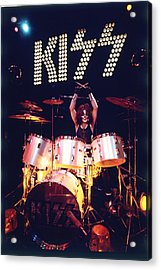 Kiss - Peter Criss 1973 Acrylic Print by Epic Rights