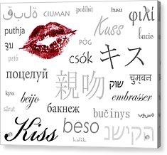 Kiss Acrylic Print by Suzi Nelson