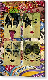 Kiss The Band Acrylic Print by Corporate Art Task Force