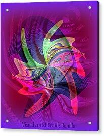 Kiss Acrylic Print by Visual Artist  Frank Bonilla