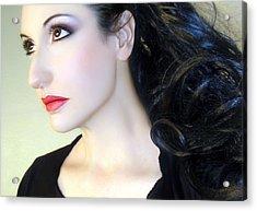 Kissed By The Light - Self Portrait Acrylic Print by Jaeda DeWalt