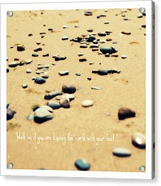 Kissing The Earth Acrylic Print by Poetry and Art