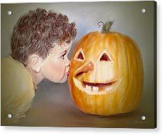 Kissy Face2 Acrylic Print by Bonnie Willis