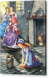 Kitchen Chores Acrylic Print by Zorina Baldescu