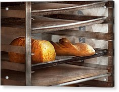 Kitchen - Food - Bread - Freshly Baked Bread  Acrylic Print by Mike Savad
