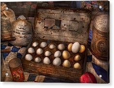 Kitchen - Food - Eggs - 18 Eggs  Acrylic Print by Mike Savad