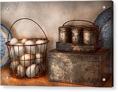 Kitchen - Food - Eggs - Fresh This Morning Acrylic Print by Mike Savad