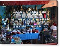 Kitchen Las Conchitas Mexico Acrylic Print by Linda Queally