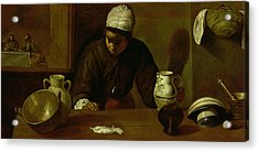 Kitchen Maid With The Supper At Emmaus, C.1618 Oil On Canvas Acrylic Print