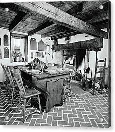 Kitchen Of 1780s Pennsylvania Farmhouse Acrylic Print