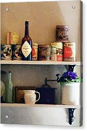 Kitchen Pantry Acrylic Print by Susan Savad