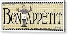 Kitchen Sign-bon Appetit Acrylic Print