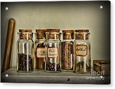 Kitchen Spices Colonial Era Acrylic Print by Paul Ward