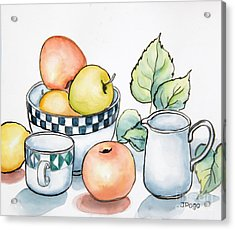 Kitchen Still Life Sketch Acrylic Print