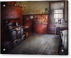 Kitchen - Storybook Cottage Kitchen Acrylic Print by Mike Savad