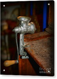 Kitchen - The Meat Grinder Acrylic Print by Paul Ward