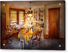 Kitchen - Typical Farm Kitchen  Acrylic Print by Mike Savad