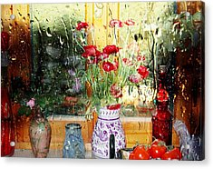 Kitchen Window Reverse Perspective Acrylic Print by Dorothy Berry-Lound