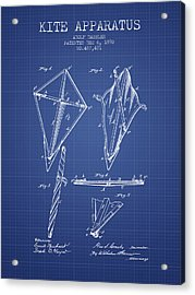 Kite Apparatus Patent From 1892 - Blueprint Acrylic Print by Aged Pixel