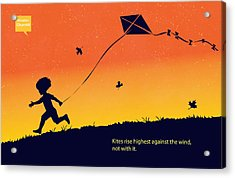 Kite Flier Acrylic Print