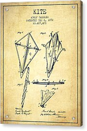 Kite Patent From 1892 - Vintage Acrylic Print by Aged Pixel