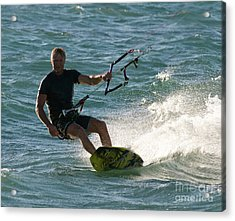Kite Surfer 05 Acrylic Print by Rick Piper Photography