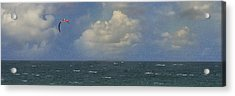 Kite Surfer Acrylic Print by Michael Moschogianis