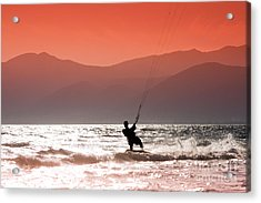 Kite Surfing Acrylic Print by Gabriela Insuratelu