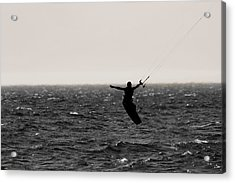 Kite Surfing Pose Acrylic Print by Dan Sproul