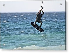 Kite Surfing Take Off Acrylic Print by Dan Sproul