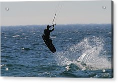 Kite Surfing Wakeboard Acrylic Print by Dan Sproul