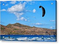 Kitesurfer 02 Acrylic Print by Antony McAulay