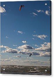 Kitesurfing The Long Island Sound Acrylic Print