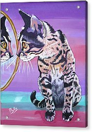 Acrylic Print featuring the painting Kitten Image by Phyllis Kaltenbach