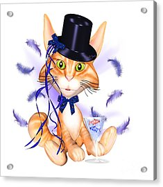 Kitticat Party Design Acrylic Print
