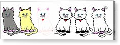 Kitties In A Row Acrylic Print